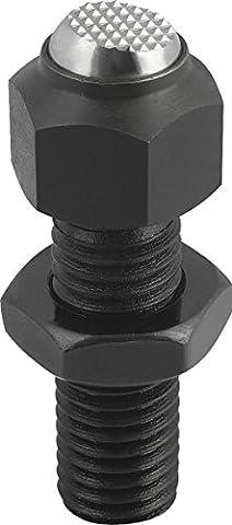 Suspension à bascule Coussin M12, forme: F acier inoxydable, réglable, Komp: acier, L1= 35, 1pièce, k0287.312
