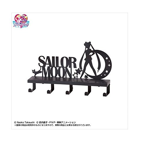Sunstar Sailor Moon Wand Rack w/Haken (Schraube oder Magnet erhältlich für Installation) schwarz - Möbel Tuxedo
