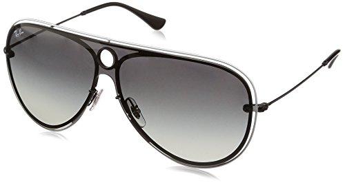 Ray-Ban Unisex-Erwachsene 0RB3605N 909511 32 Sonnenbrille, Black/White/Greygradientdarkgrey,