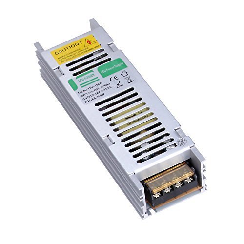 Liqoo® DC 12V 12.5A 150W Transformateur LED Trafo Driver Convertisseur Pour Ampoule MR16 MR11 et Ruban LED 12V