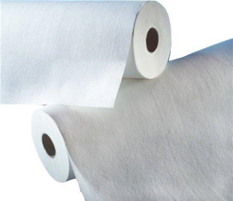 Liegenabdeckung,–weiß–Zellstoffwatte 150Formate 50x 38cm/3Stück Rollen