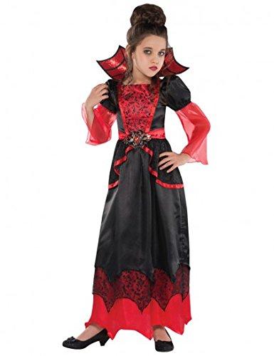 Vampir Kostüme (Halloween Vampir Kostüm für Mädchen 128/140 (8-10)
