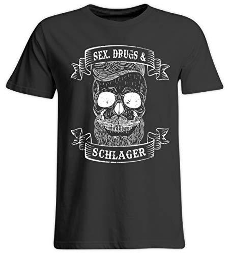 PlimPlom Sex Drugs and Schlager - Schlagermusik Party Design - Übergrößenshirt -5XL-Tief Schwarz
