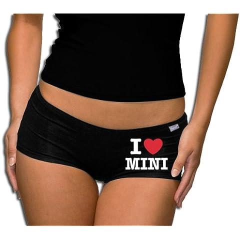 'Touchlines Damen Panty PT216–Braguitas, camiseta, I Love Mini