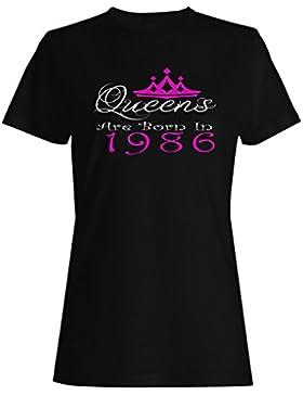 Queens nacieron en 1986 camiseta de las mujeres y32f