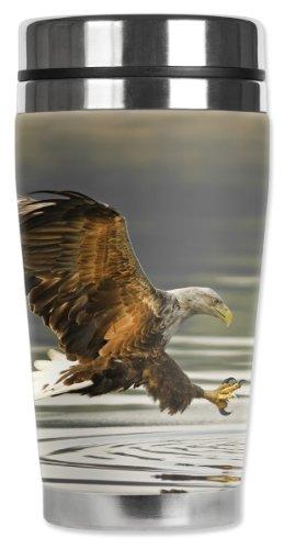 mugzie Angeln Eagle Reise Tasse mit isolierter Neoprenanzug, 16oz, schwarz