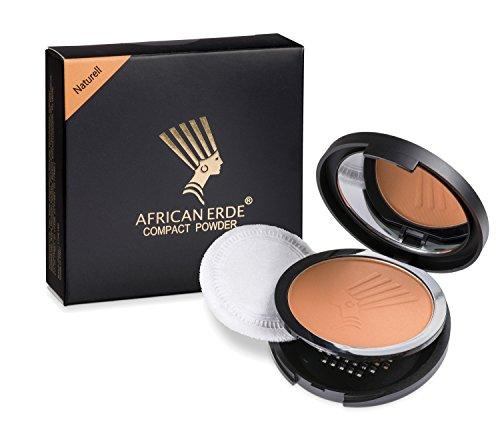 """Bronzing Puder - African Erde Compact Powder\""""Naturell\"""" - ohne Glitter, Mineralpuder, Spiegel Case,"""
