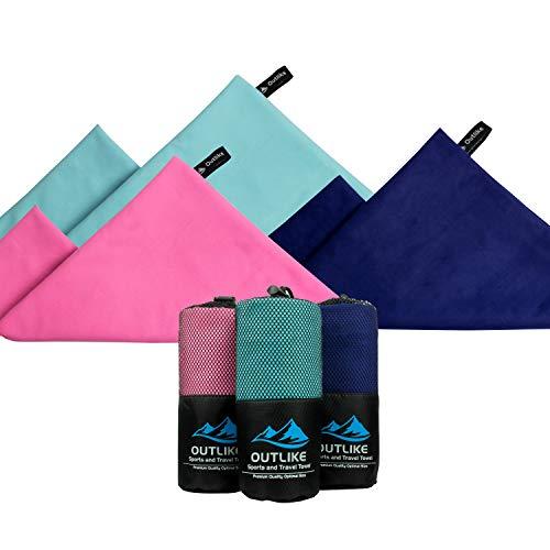 Antibakterielle Handtuch (     Outlike Microfaser Reisehandtuch 2er Pack - Ein leichtes, schnell trocknendes, antibakterielles und kompaktes Handtuch - So verpackbar, dass Sie es überallhin mitnehmen können (Rosa)   )