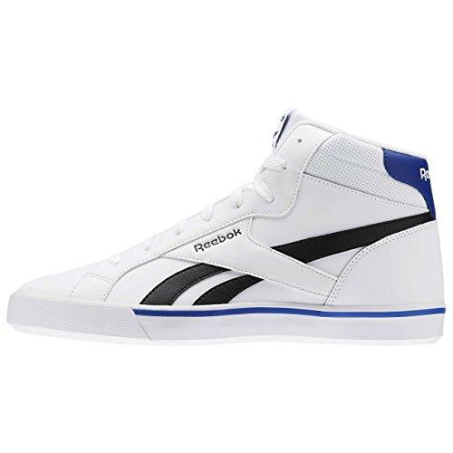 Reebok Royal Complete 2ml, Chaussures de Sport Homme Blanc Cassé - Blanco (White / Black / Collegiate Royal)