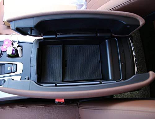 Per X5 X 6 F15 F16 2014-2017 Scatola portaoggetti per braccioli Porta documenti per telefono con accessori LOGO opaco