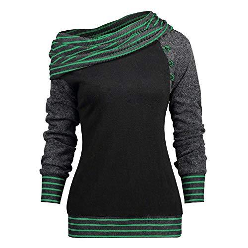 NINGSANJIN Hoodies Damen Pullover Kapuzenpullover Sweatshirt Pulli Zweifarbige Longsleeve Tops Doppelte Kapuzenpulli Casual (Mint ()