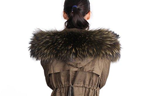 Dancel de pelo Mujer Bufanda Bufanda F ¨ ¹ r abrigo de invierno Cuello o  capucha 6b360bf4cc5
