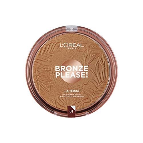 L'Oréal Paris Joli Bronze Terra Make Up Abbronzante Viso in Polvere, Texture Leggera, 01 Portofino, 18 g