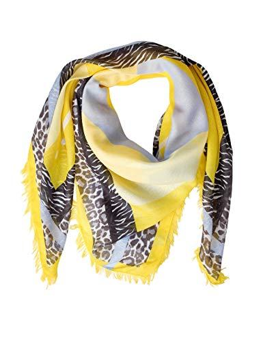 Street One Damen 570957 Schal, Mehrfarbig (creamy lemon 31848), One Size (Herstellergröße:A)