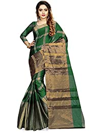 Ruchika Fashion Women's Cotton Silk Saree With Blouse Piece Material
