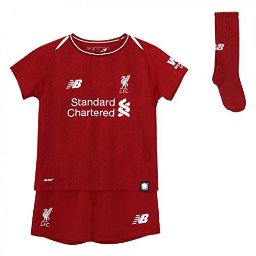 New Balance Equilibrio Liverpool de los niños en casa Infantil Set Seguidores Jersey, Niños, LFC Home Infant Set, Red Pepper, L