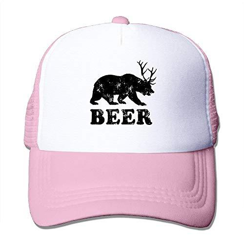 errterfte Beer Bear Deer Funny Fashion Baseball Caps Pink Personalized Hat Comfortable Adjustable - Jordan Hut Stricken