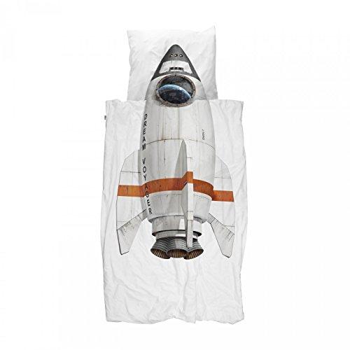 Snurk Rocket Bettwäsche 135 x 200 - inkl. Kopfkissen 80 x 80 cm - 100% Baumwolle (Standard-bett-stiftung)