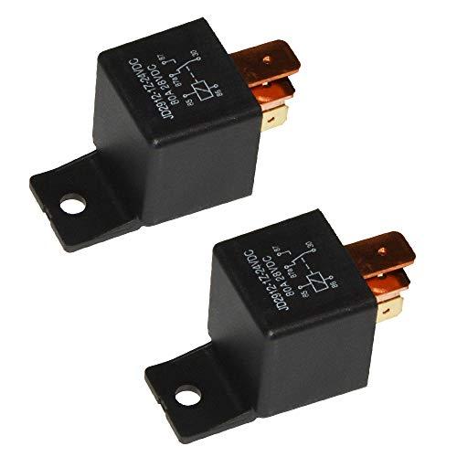 Ehdis [2 Stück 5-Pin JD2912-1Z-24VDC 80A 28VDC SPDT-LKW-Boot Van Fahrzeug Auto Relais 24V-Schalter
