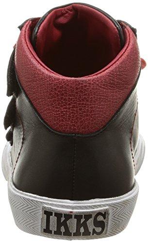 IKKS Korist, Sneakers Hautes garçon Noir (Vte Noir/Rouge Dtx/Vulca)