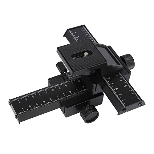 Discoball® 4Wege Focusing Rail Slider Halterung für DSLR Kamera Macro Focus Fotografie für Canon Nikon Sony (schwarz)