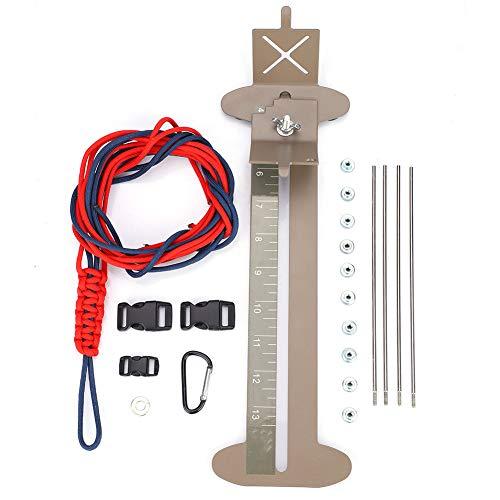 Imagen de dioche diy pulsera paracord jig, herramienta fabricante de paracord pulsera hebillas trenzado de cuerdas con hebillas libres