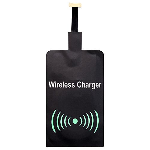 Samsung Wireless Receiver (Qianyou Wireless Ladegerät Empfänger Android, Universal QI Wireless Ladegerät Charger Receiver Wireless Empfänger für Samsung Galaxy S8/S7/S5/J5,Sony, LG und anderes Android-Handy,Micro USB (Schwarz))