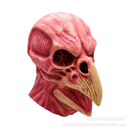 Horror Blut Schädel Vogelkopf Maske Osterparty Latexmaske Thriller Maske ()