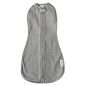 The Woombie Original Swaddle (Heathered Grey, Newborn)