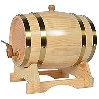 برميل خشبي ، برميل بلوط فردي للويسكي أو النبيذ ، برميل مع صنبور ، سدادة وحامل خشبي ،,Wood (copper),30L