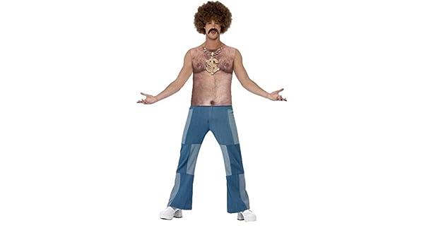 Herren Fancy Party Kleid Realistische 1970 \'s Hairy Brust ärmellos ...