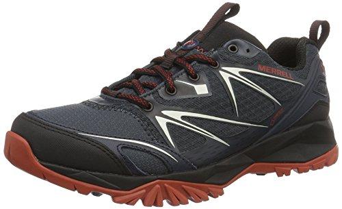 Merrell Capra Bolt GTX, Herren Trekking- & Wanderhalbschuhe, Schwarz (Black/Navy), 43.5 EU (9 UK) (Wasserdichte Schuhe Herren Merrell)