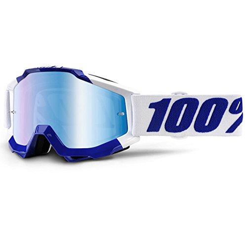 Preisvergleich Produktbild 100% Motocross Brille Crossbrille Accuri Calgary Blau Weiß Klar Blau Verspiegelt Quad Atv Mx Sx Offroad Mtb (Verspiegelt)