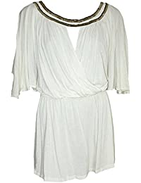 Scoop Neck Grecian Style Beaded Mini Dress / Tunic. RRP: £35. Sizes 10-18