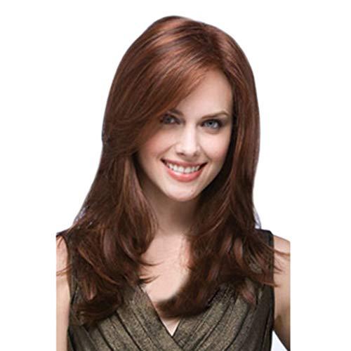 feiXIANG Perruque pour Femme Longue Bouclée Cheveux longs bouclés Perruques Perruque Cheveux synthétiques complète des Perruques