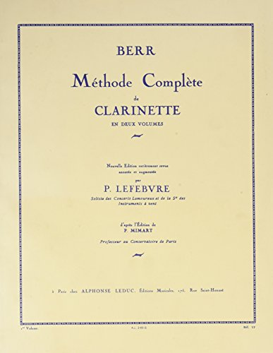 METHODE DE CLARINETTE VOLUME 1