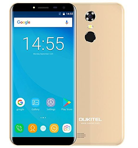 OUKITEL C8 - 5,5 Zoll (18: 9 Verhältnis Vollbild) Android 7.0 3G Smartphone, 3000mAh Akku, 1.3GHz Quad Core 2GB RAM 16GB ROM, 5MP + 13MP...