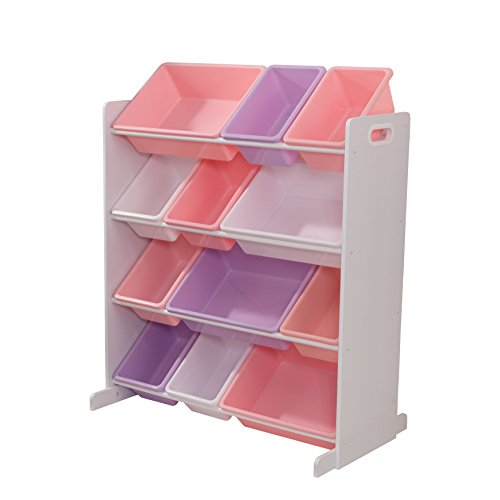 "KidKraft 15450 - Estantería ""Sort It and Store It"" con cajones de almacenaje, color blanco"
