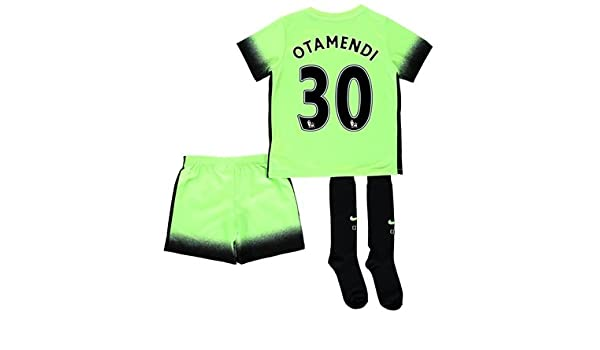 size 40 06a6d f3dac Manchester City 3rd Kit 2015/16 - Little Kids Green with ...