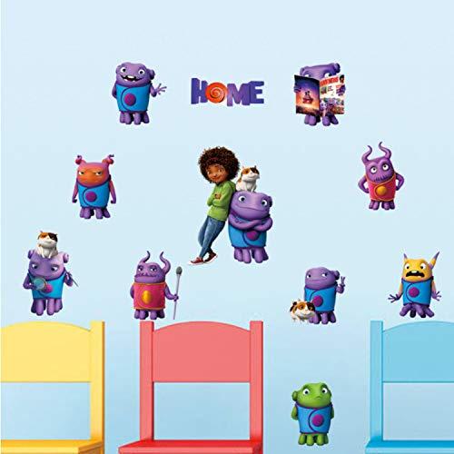 ikjuh Film Home Cartoon Aliens Crazy Wandaufkleber Abnehmbare Wandtattoos Für Kinderzimmer Kind Tapete 3D Kunst Decals (Kunst-projekte Kinder Halloween Für)