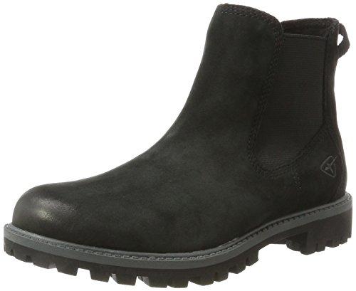 Tamaris Damen 25401 Chelsea Boots, Schwarz (Black Uni), 39 EU