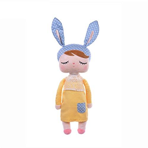 Lalang Baby Stofftier Spielzeug Stoffspielzeug Baumwolle Gefüllte Kaninchen Plüschtier (gelb)