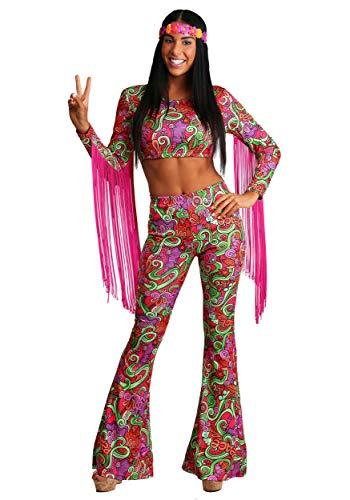 World Peace Women's Hippie Fancy Dress Costume ()