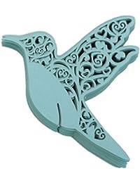 Vogel Glastischkarten Hochzeitsfeier Tischdekoration 50pcs Blau