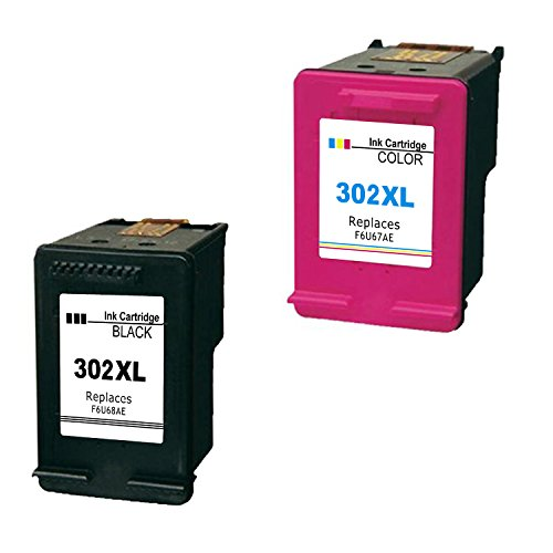 Inkseller the best amazon price in savemoney inkseller remanufactured 302 xl cartouches dencre 1 noir 1 tri couleur fandeluxe Gallery