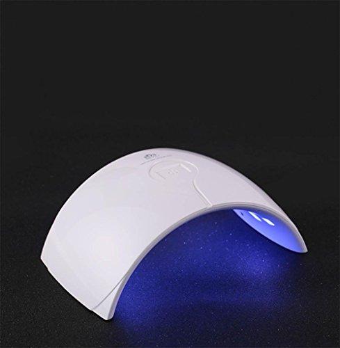 MNII 9C 24W LED UV Nagel Gel Polnisch Härtung Lampe Trockner für Nagel Home Use und professionelle Schönheitssalon, große genaue Verwendung für Hände und Füße (weiß)