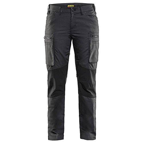 Knie-pocket Canvas Hose (Blakläder 715918459899C48Größe C48Frauen Service Hose–Dark Grün/Schwarz)