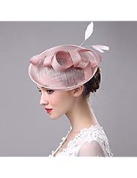 Sombrero de plumas de Billycock con clip para mujeres y niñas Simly  Fascinator f0788a45bd4
