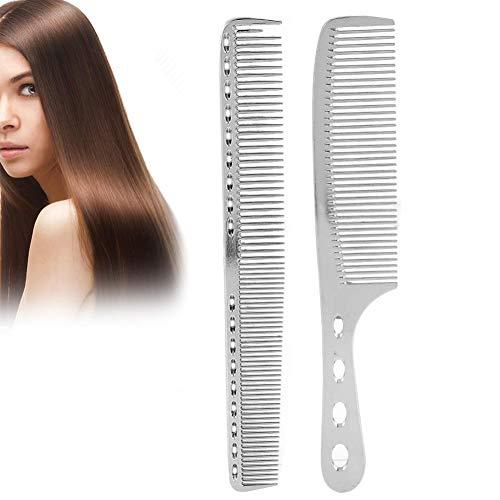 Professionelle Styling Kamm, 2 Teile/satz Haar Kamm Raum Aluminium Edelstahl Antistatische Spärlich Haarschnitt Kamm Schönheit Werkzeug -