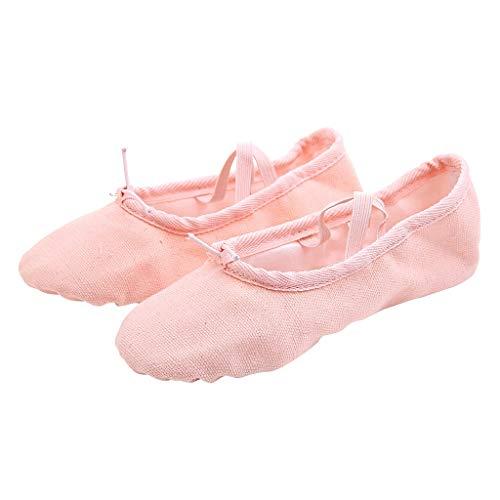 Theshy 2019 Scarpe Uomo Antinfortunistica Donna Donne Dance Yoga Balletto Pointe Dance Fitness Ginnastica Soft Bottom Dance Shoes (Khaki, 39)